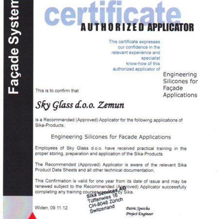 Sika-certificate